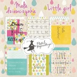 Ozdobne karty do journalingu Mała Dziewczynka - MADZ