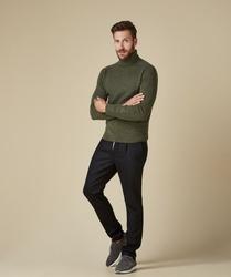 Sweter z golfem zielony xxl