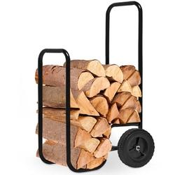 Stojak kosz wózek na drewno kominkowe kominek