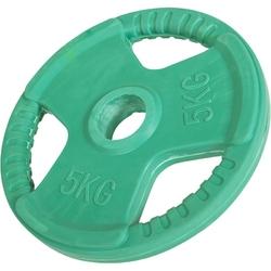 5 kg obciążenie gumowane z uchwytami na sztangę 30 mm gorilla sports