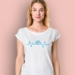 Rower ekg t-shirt damski biały s
