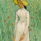 Girl in white, vincent van gogh - plakat wymiar do wyboru: 40x50 cm