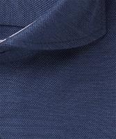 Elegancka ekstra długa granatowa koszula michaelis z kontrastami  45