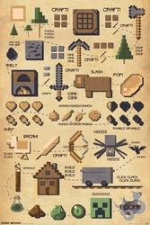Minecraft Pictograph - plakat