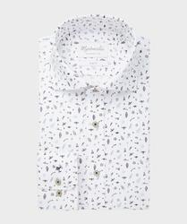 Wyjątkowa biała koszula michaelis w koszmiczny motyw 45