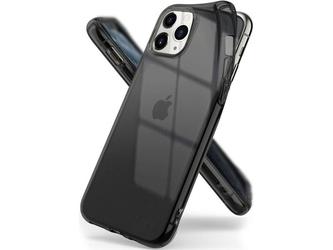 Etui ringke air do apple iphone 11 pro max smoke black + szkło alogy - czarny