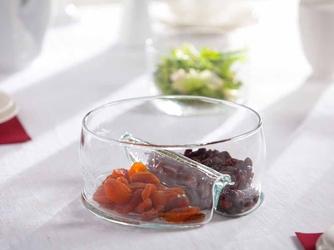 Miseczka do dipów  salaterka  dipówka dzielona szklana edwanex 20 cm