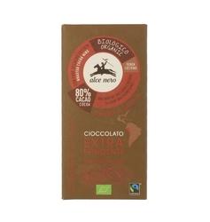 Alce nero | czekolada gorzka z kawałkami kakao 100g | organic - fairtrade
