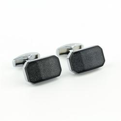 Klasyczne, prostokątne spinki do mankietów kc-1055 onyx-art london