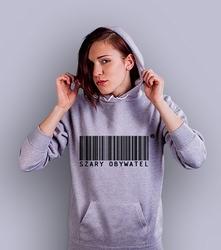 Szary obywatel damska bluza z kapturem jasny melanż xl