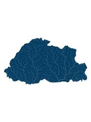 Mapa hydrologiczna bhutanu