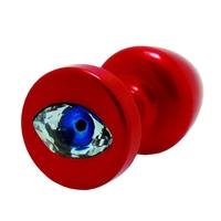 Plug analny ozdobny - diogol anni r eye red crystal 30 mm czerwony
