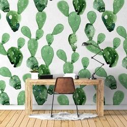 Art cactus - tapeta ścienna , rodzaj - tapeta flizelinowa laminowana