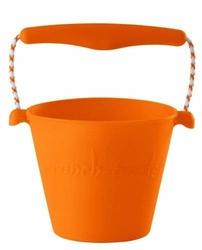 Zwijane wiaderko silikonowe, Pomarańczowe, Scrunch-Bucket