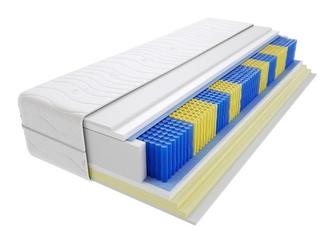 Materac kieszeniowy zefir multipocket 145x145 cm miękki  średnio twardy 2x visco memory