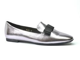 Mokasyny sergio leone bl600 ciemny srebrny