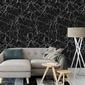 Tapeta na ścianę - black marble , rodzaj - tapeta flizelinowa