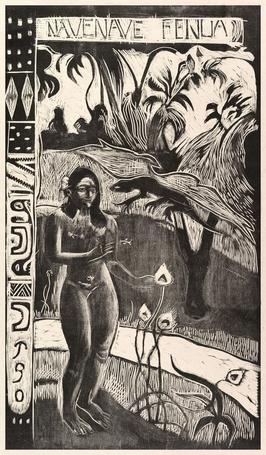 Delightful land, paul gauguin - plakat wymiar do wyboru: 61x91,5 cm