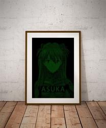 H4ck3d - asuka, evangelion - plakat wymiar do wyboru: 29,7x42 cm