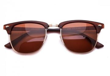 Półramki okulary polaryzacyjne brązowe pol-615