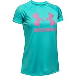 Koszulka dziewczęca under armour big logo tee solid ss - zielony