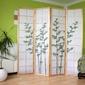 Parawan drewniany 4-skrzydłowy jasny, zielony bambus