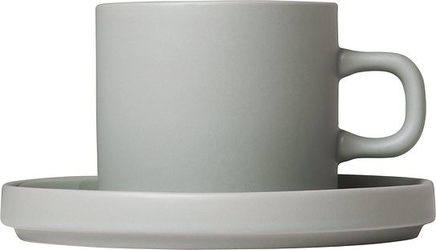 Kubek pilar 200 ml mirage grey z podstawką 2 szt.