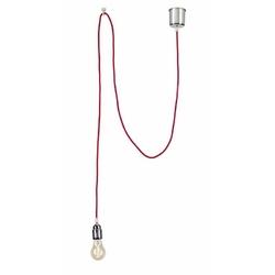 Kaspa - lampa wisząca - single - przewód czerwony - czerwony