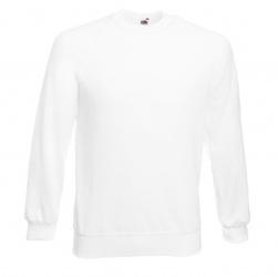 Bluza reglan sweat biała fullcolor