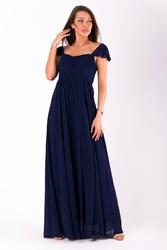 Evalola sukienka granatowy 51006-2