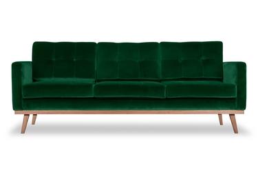 Sofa fern z funkcją spania welurowa 3-osobowa  welur bawełna 100 zielony