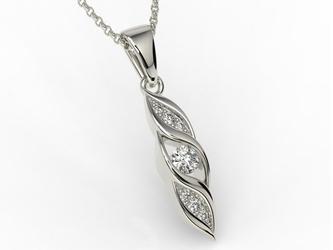 Wisiorek z białego złota z diamentami apw-51b