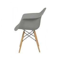 Nowoczesne krzesło design modern daw retro szary