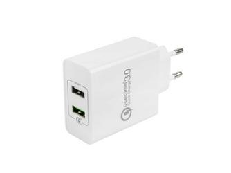 NATEC Uniwersalna ładowarka sieciowa 2xUSB Quick Charge 3.0