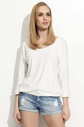 Biała bluzka z dekoltem 34