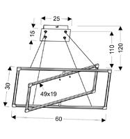 Lampa wisząca dwie ramki led 30x60 cm kseros apeti a0033-320
