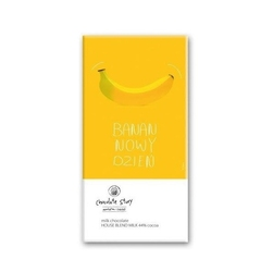 Tabliczka mlecznej czekolady banannowy dzień balsi - wyjątkowy artystyczny prezent na każdy dzień z mikro plakatem