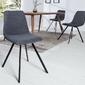 Krzesło tapicerowane do jadalni ellie sztruks ciemnoszare
