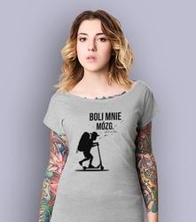 Chłopak - boli mnie mózg. t-shirt damski jasny melanż xxl