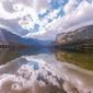 Fototapeta na ścianę góry z odbiciem w jeziorze fp 3139