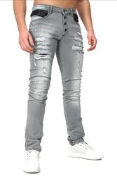 Crsm spodnie jeansowe z dziurami - 16001-1