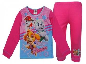Piżama z długim rękawem psi patrol dla dziewczynki różowa
