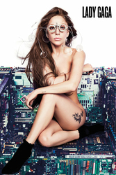 Lady Gaga Chair - plakat