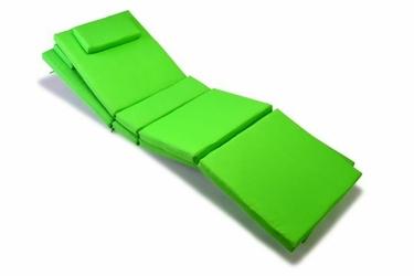 Wysokiej jakości poduszka na leżak zielona 2 sztuki