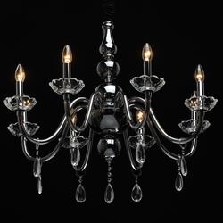 Żyrandol ze szkła, świecznikowe gniazda żarówek, kryształy ella mw-light crystal 483014808