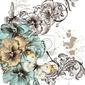 Fototapeta grunge background z gwałtownymi kwiatów dla projektu