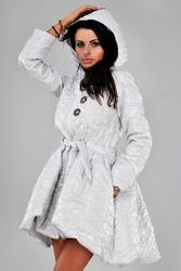 Płaszcz - jasny szary 23005-1
