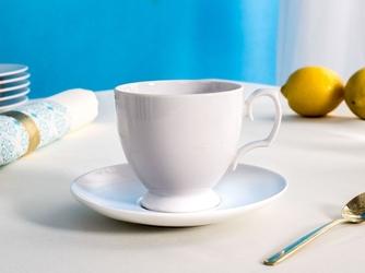 Filiżanka do kawy ze spodkiem porcelana mariapaula biała