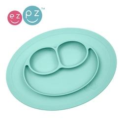 Mini mat - silikonowy talerz z podkładką ezpz 2w1 - pastelowy niebieski