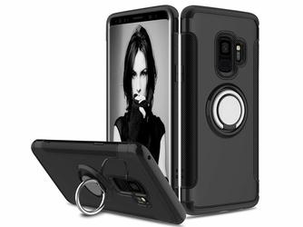 Etui Alogy pancerne Samsung Galaxy S9 Ring Czarne + Szkło 9h